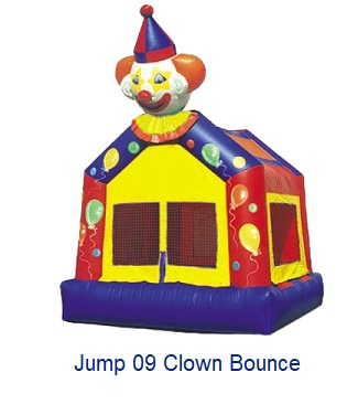 Clown Bounce - Inflatables WV - Bounce House WV - Quantum Party Rentals