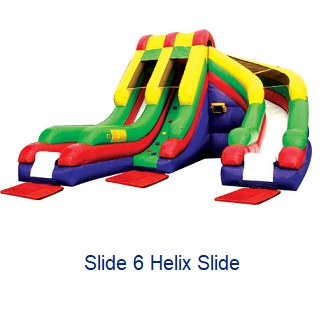 Helix Slide - Inflatables WV - Bounce House WV - Quantum Party Rentals